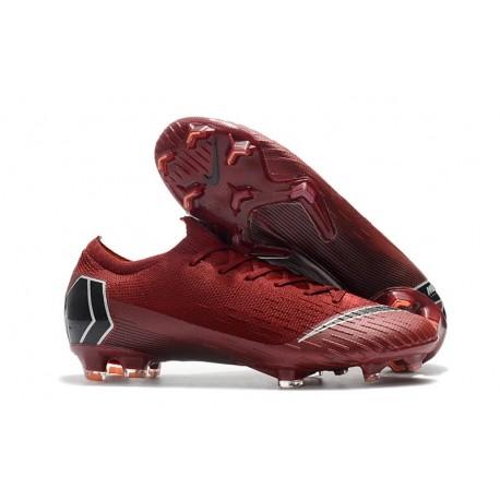 Nike Mercurial Vapor 12 Elite FG ACC Scarpe da Calcio - Rosso Nero 74344fdb132