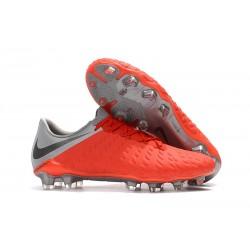 Nike Hypervenom Phantom 3 FG Scarpe Per Terreni - Rosso Grigio