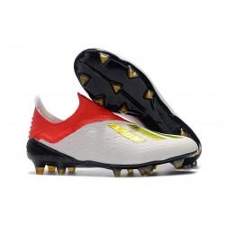 Scarpe da Calcio adidas X 18+ FG Uomo - Bianca Rosso Oro