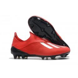 Scarpe da Calcio adidas X 18+ FG Uomo - Rosso Argento