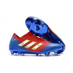 Coppa del Mondo Scarpa adidas Nemeziz 18.1 FG - Blu Rosso Argento