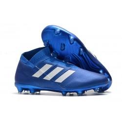 adidas Nemeziz 18+ FG Scarpe da Calcio - Blu Bianco