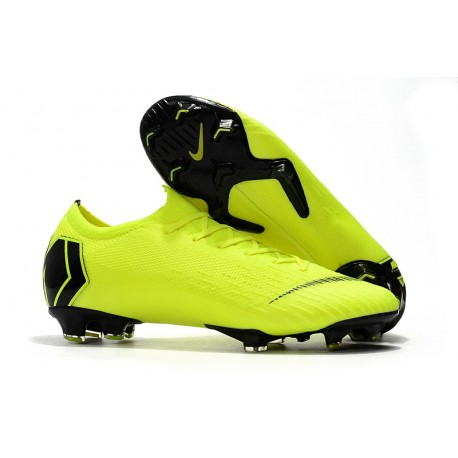 Nike Mercurial Vapor 12 Elite FG ACC Scarpe da Calcio Volt Nero