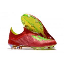 Scarpe da Calcio adidas X 18+ FG Uomo - Rosso Verde