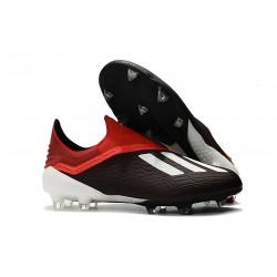 Scarpe da Calcio adidas X 18+ FG Uomo - Nero Rosso Bianco