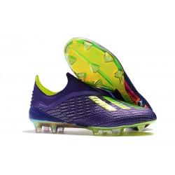 adidas X 18+ FG Scarpa Calcio - Viola Verde