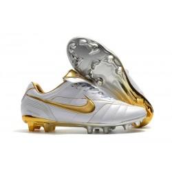 Nike Tiempo Legend 7 R10 Elite FG Scarpa Uomo - Bianco Oro