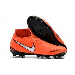 Nike Phantom VSN DF FG Scarpe da Calcio Uomo - Arancio Argento Nero