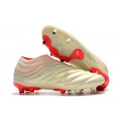 Adidas Nuovo Scarpe da Calcio Copa 19+ FG - Bianco Rosso
