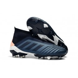 Scarpe Adidas Predator 18+ FG - Ciano Nero