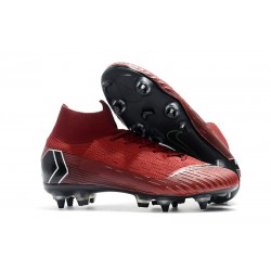 Nike Mercurial Superfly VI Elite Anti-Clog SG-Pro Rosso Nero