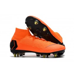 Nike Mercurial Superfly VI Elite Anti-Clog SG-Pro Arancio Nero