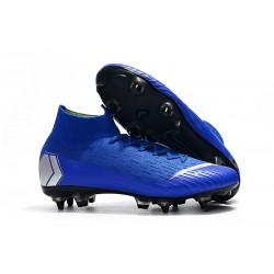 Nike Mercurial Superfly VI Elite Anti-Clog SG-Pro Azul Argento
