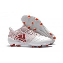 Adidas Scarpe Calcio X 17.1 FG Techfit - Bianco Rosso