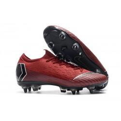 Scarpa Nike Mercurial Vapor XII SG-Pro Anti Clog Rosso Nero