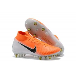 Scarpe Nike Mercurial Superfly 6 Elite Anti-Clog SG - Arancio Bianco