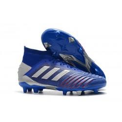 adidas Predator 19.1 FG Scarpa da Calcio Uomo - Blu Argento