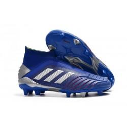 Scarpe da Calcio adidas Predator 19+ FG - Blu Argento