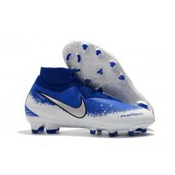 Nike Phantom VSN DF FG Scarpe da Calcio Uomo - Bianco Blu
