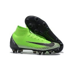 Scarpe Nike Mercurial Superfly 6 Elite Anti-Clog SG - Verde Nero