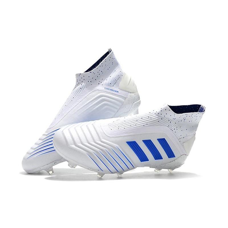 Scarpe da Calcio adidas Virtuso Predator 19+ FG Bianco Blu