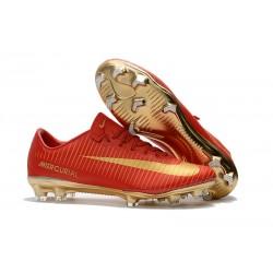 Scarpe da Calcio Nike Mercurial Vapor XI CR7 FG Uomo - Rosso Oro