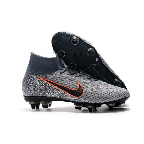Scarpe Nike Mercurial Superfly 6 Elite Anti-Clog SG -Grigio Nero