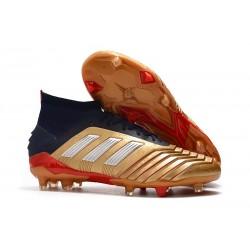 adidas Predator 19.1 FG Scarpa da Calcio Uomo - Oro Argento Rosso