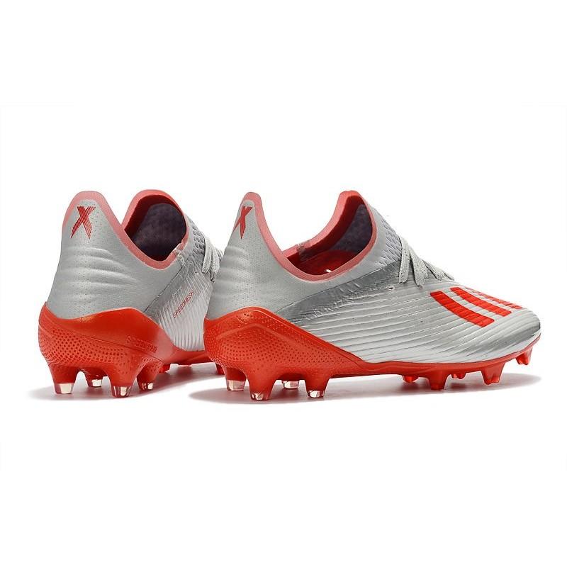 Scarpe da Calcio adidas X 19.1 FG Uomo Argento Rosso