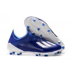 Scarpe da Calcio adidas X 19.1 FG Uomo Blu Bianco