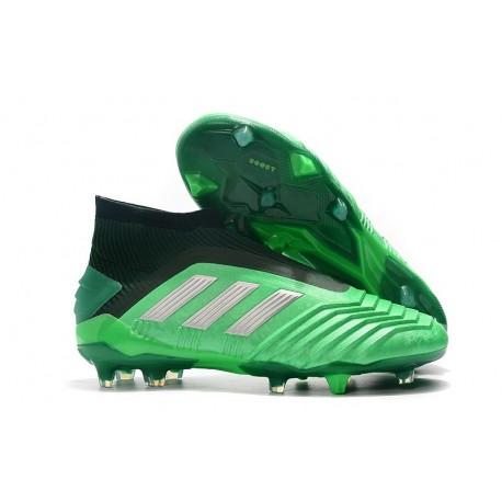 sconto del 50 molti alla moda super economico Scarpe da Calcio adidas Predator 19+ FG - Verde Argento