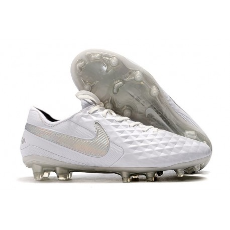 Nike Scarpe da Calcio Tiempo Legend 8 Elite FG - Bianco Platino Grigio