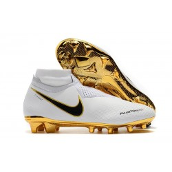 Nike Phantom Vision Elite Dynamic Fit FG Scarpa - Bianca Oro
