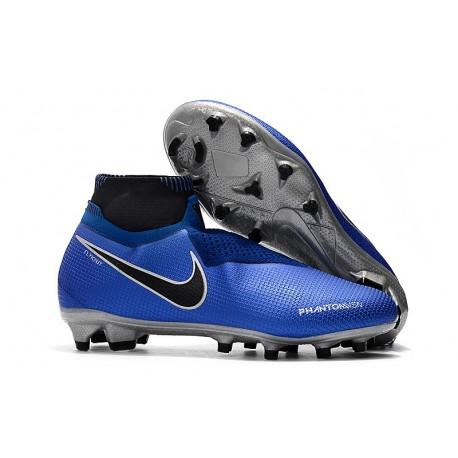 Nike Phantom Vision Elite Dynamic Fit FG Scarpa - Blu Argento