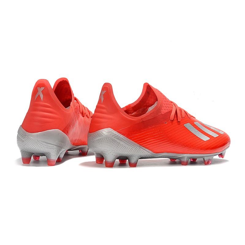Scarpe da Calcio adidas X 19.1 FG Uomo Rosso Argento