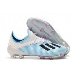 Scarpe da Calcio adidas X 19.1 FG Uomo Bianco Blu Nero