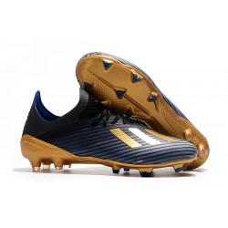 Scarpe da Calcio adidas X 19.1 FG Uomo Nero Blu Oro