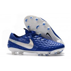 Nike Scarpe da Calcio Tiempo Legend 8 Elite FG - Blu Bianco