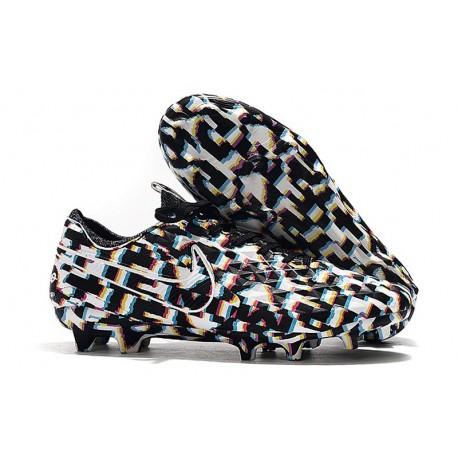 Nike Scarpe da Calcio Tiempo Legend 8 Elite FG - Nero Bianco