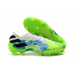 adidas Performance Nemeziz 19.1 Fg - Bianco Verde Blu