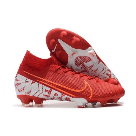 Nike Scarpe Mercurial Superfly VII Elite FG - Rosso Bianco
