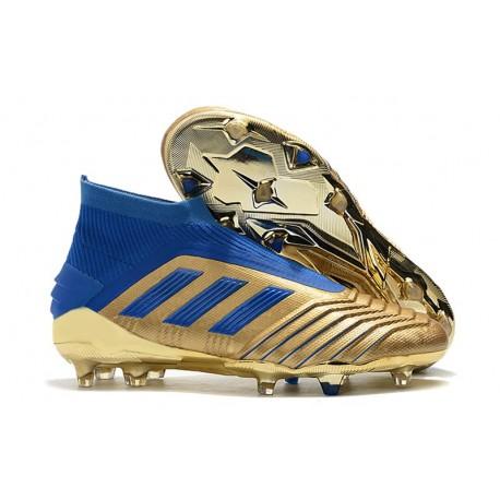 Scarpe da Calcio adidas Predator 19+ FG - Oro Blu