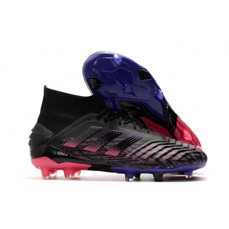 Scarpe da Calcio adidas Predator 19+ FG - Nero Blu Rosa
