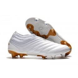 Adidas Nuovo Scarpe da Calcio Copa 19+ FG - Bianco Oro