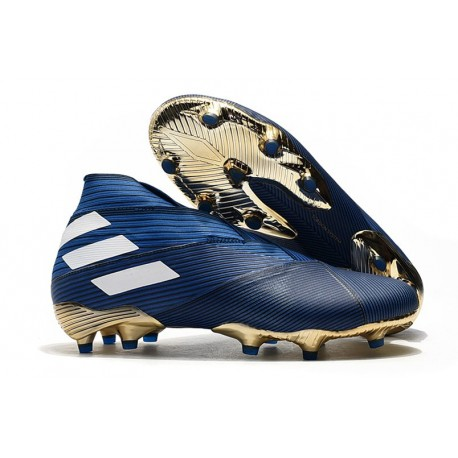 adidas Nemeziz 19+ FG Scarpa da Calcio - Blu Bianco