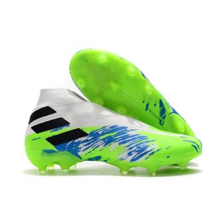 adidas Nemeziz 19+ FG Scarpa da Calcio - Bianco Blu Nero
