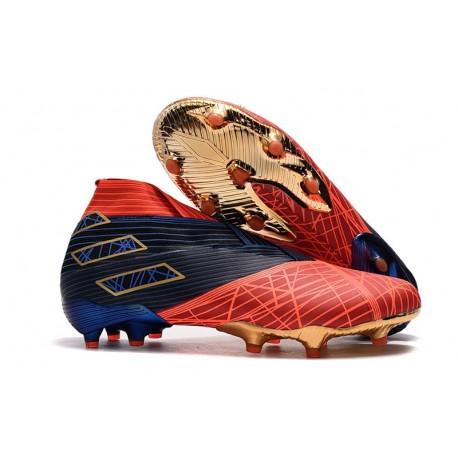 adidas Nemeziz 19+ FG Scarpa da Calcio - Spider-Man Rosso Nero
