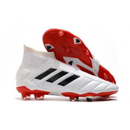 Scarpe da Calcio adidas Predator Mania 19+FG ADV Bianco Nero Rosso
