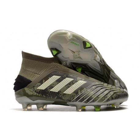 Scarpe da Calcio adidas Predator 19+ FG - Verde Legacy Sabbia