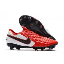 Nike Scarpe da Calcio Tiempo Legend 8 Elite FG -Rosso Bianco Nero